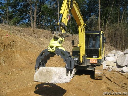 HYDRAULIC STONE GRAPPLE